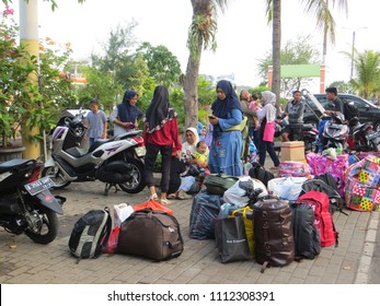 JAKARTA, INDONESIA - June 11, 2018: Mudik, or Pulang Kampung, is an Indonesian term for the activity where migrants return to their hometown during major holidays especially Lebaran (Eid al-Fitr).