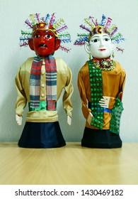 Jakarta, Indonesia - June 21, 2019: Ondel ondel, traditional a large doll from Batavia (Jakarta).