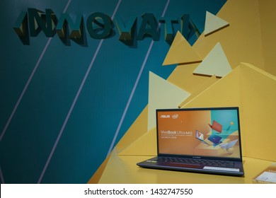 "Jakarta, Indonesia - June 24, 2019: The ASUS VivoBook A412 is the compact laptop with 14.0"" (16:9) LED backlit FHD (1920x1080) 60Hz Anti-Glare Panel and 45% NTSC."