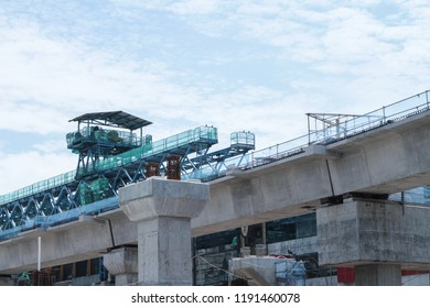 Jakarta, Indonesia - March 13 2017: MRT Station Under Construction