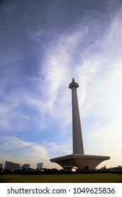 JAKARTA / INDONESIA - March 16, 2018: Indonesia's national monument, Monas, in the early morning.