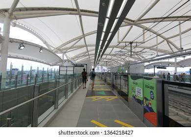 Jakarta - Indonesia,  March 23' 2019. Jakarta's Mass Rapid Transit (MRT) - Fatmawati Station
