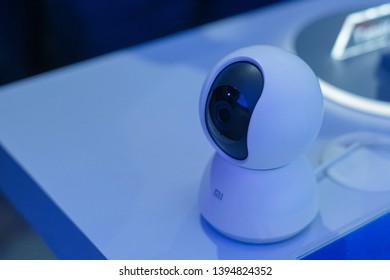 Jakarta, Indonesia - May 11, 2019: The Xiaomi Mi Home Security Camera 360 1080p.