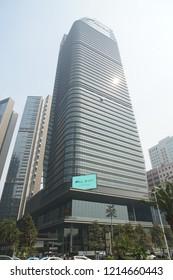Jakarta, Indonesia - May 2 2018: View of Astra International Building menara located on Sudirman