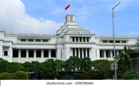 Jakarta, Indonesia - May 24, 2018: Bank Mandiri Museum in Jakarta Old City, Indonesia. Opened October 2, 1998.