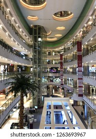 Jakarta, Indonesia - November 19, 2018: Interior view of Central Park Mall.