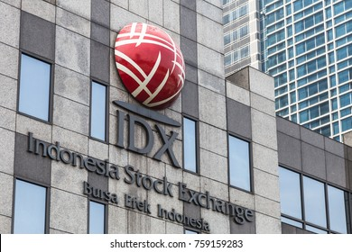 JAKARTA, INDONESIA - NOVEMBER 5, 2017: The exterior of the Indonesia stock exchange building, IDX, in the Senayan business district in Jakarta, Indonesia capital city.