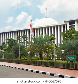 JAKARTA, INDONESIA - OCTOBER 19, 2014: Istiqlal Mosque in Jakarta, Indonesia is the largest mosque in Southeast Asia.