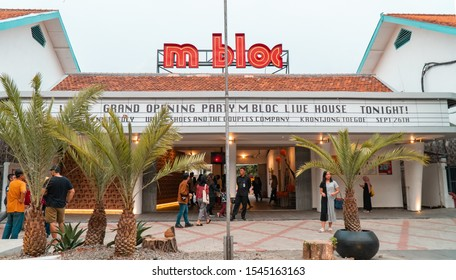 Jakarta, Indonesia - October 27 2019 :  m-bloc Space, a contemporary public space located near the Blok-M terminal