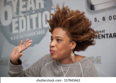 JAKARTA, INDONESIA - OCTOBER 6: American singer, Macy Gray is giving a press conference at the 6th LA Lights Java Soulnation Festival 2013 on October 6, 2013 in Jakarta, Indonesia.