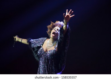 JAKARTA, INDONESIA - OCTOBER 6: American R&B singer Macy Gray performs at the 6th LA Lights Java Soulnation Festival 2013 on October 6, 2013 in Jakarta, Indonesia.