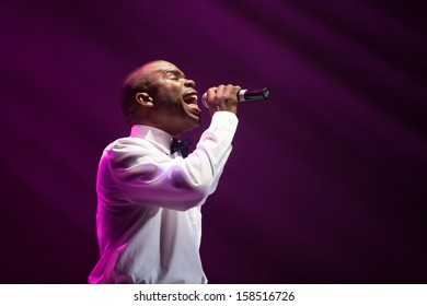 JAKARTA, INDONESIA - OCTOBER 6: Delious Kennedy of All-4-One, American R&B group performs at the 6th LA Lights Java Soulnation Festival 2013 on October 6, 2013 in Jakarta, Indonesia.