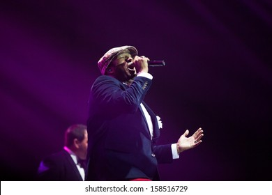 JAKARTA, INDONESIA - OCTOBER 6: Jamie Jones of American R&B group All-4-One performs at the 6th LA Lights Java Soulnation Festival 2013 on October 6, 2013 in Jakarta, Indonesia.