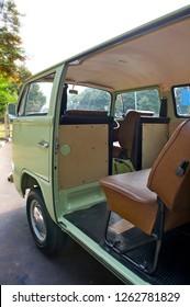 Jakarta / Indonesia - October 8, 2011 : Volkswagen Kombi T2 with green avocado color