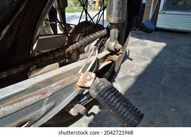 Jakarta - Indonesia, Septembre 17, 2021 : old honda impressa and spare parts