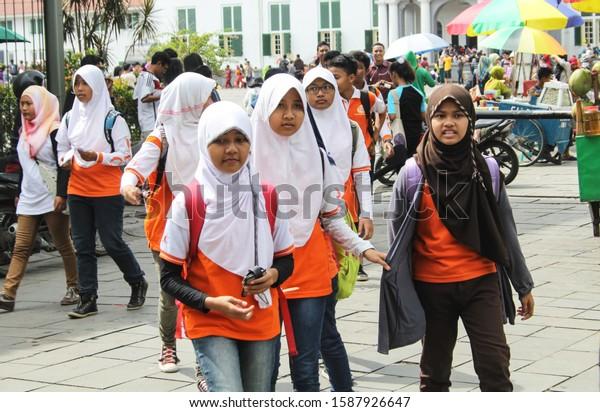 Jakarta Indonesiaapr 6 2014 Indonesian School Stock Photo Edit