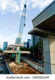 Jakarta May 1, 2019 coincides with the labor day the construction of the MRT line in Jakarta is closed