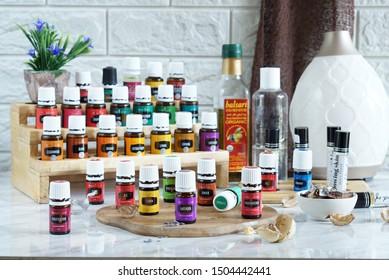 Jakarta Timur, Jakarta/ Indonesia - September 09, 2019 ; Product of essentials oil.
