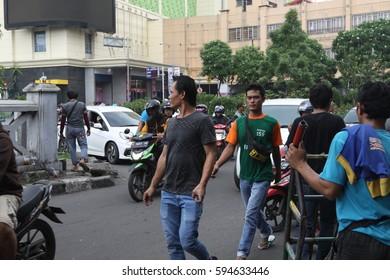 JAKARTA,INDONESIA-MAC,04,2017: In the streets of Jakarta,Indonesia.