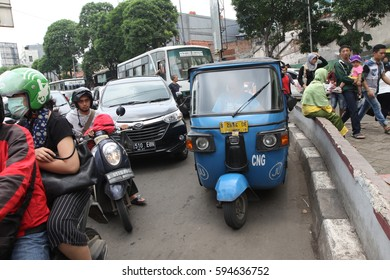 JAKARTA,INDONESIA-MAC,04,2017: In the streets of Jakarta,Indonesia..