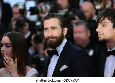 Jake Gyllenhaal  attends the 'Okja' screening during the 70th annual Cannes Film Festival at Palais des Festivals on May 19, 2017 in Cannes, France.