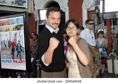 Jake Johnson and Charlyne Yi  at the Los Angeles Screening of 'Paper Heart'. Vista Theatre, Los Angeles, CA. 07-28-09