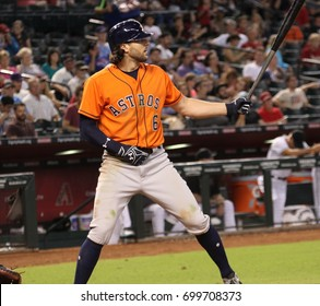 Jake Marisnick outfielder for the Houston Astros at Chase Field in Phoenix,AZ USA August 15,2017.
