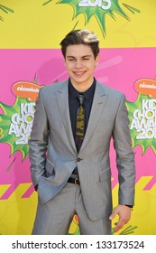 Jake T. Austin at Nickelodeon's 26th Annual Kids' Choice Awards at the Galen Centre, Los Angeles. March 23, 2013  Los Angeles, CA Picture: Paul Smith