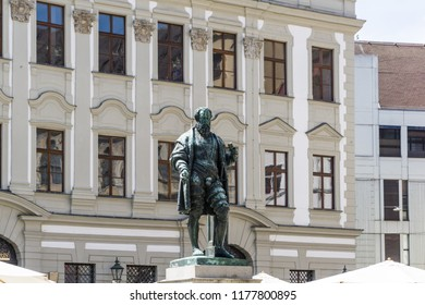 Jakob Fugger monument in Augsburg Germany