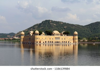 "Jal Mahal, meaning ""Water Palace"" right in the middle of Man Sagar Lake in Jaipur. Taken in India, August 2018."