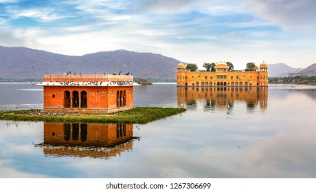 Jal Mahal water palace Jaipur Rajasthan with scenic landscape view