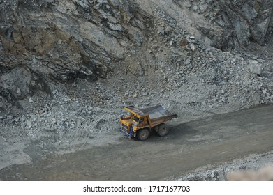 Jalal-Abad region / Kyrgyzstan - 06.26.2018 : Open-pit gold mine in the South of Kyrgyzstan. The field is being developed by KAZ Minerals