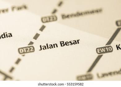 Jalan Besar Station. Singapore Metro map.