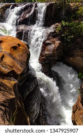 JALAPAO, BRAZIL - CIRCA SEPTEMBER, 2018: Cachoeira do Rio Soninho is one of the countless waterfalls that have become tourist attractions in the region of Jalapao, state of Tocantins