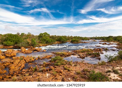 JALAPAO, BRAZIL - CIRCA SEPTEMBER, 2018: Soninho River is one of the sources that supplies the dry region of Jalapao, in Tocantins, with crystalline water