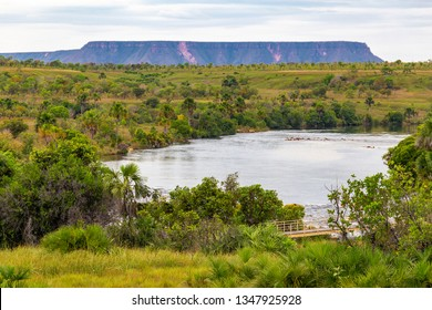 JALAPAO, BRAZIL - CIRCA SEPTEMBER, 2018: Sono River is one of the sources that supplies the dry region of Jalapao, in Tocantins, with crystalline water