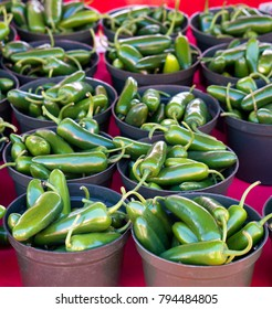 Jalapeno peppers for sale at a local farmers market in St. Pete Beach, Florida