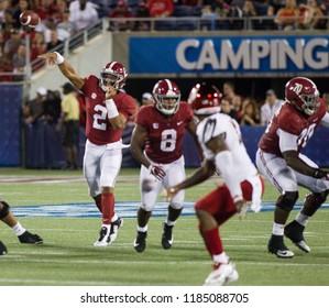 Jalen Hurts-Alabama Football Campingworld Kickoff September 1st, 2018 in Orlando Florida -USA Alabama Crimson Tide Vs. Louisville Cardinals