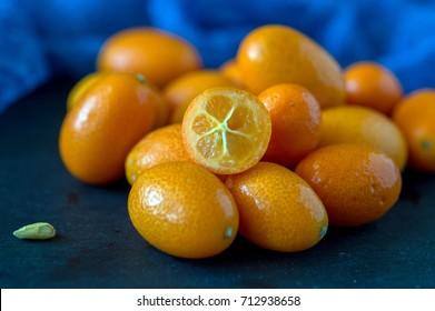 Jam from kumquats or Chinese golden orange, dessert from kumquat