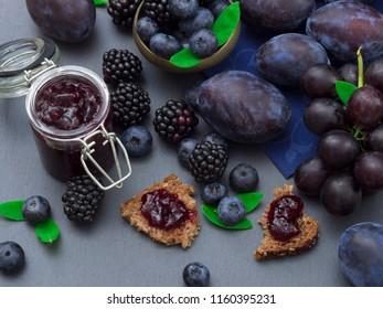 jam made of berry fruit