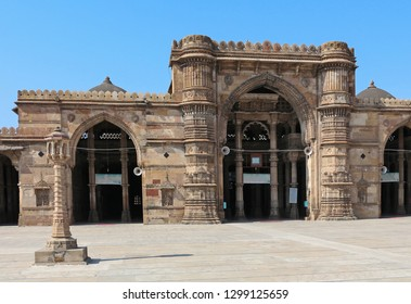 Jama Masjid or Friday mosque is built in 1423 during the reign of Ahmedabad's founder Ahmed Shah. The mosque and arcades are built of beautiful yellow
