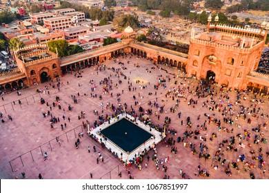 Jama Masjid at Old Delhi, India.