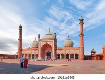 Jama Masjid, Old town of Delhi, India