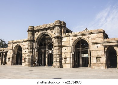 Jama Mosque, the great mosque at the old city of Ahmedabad, Gujarat, India