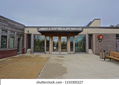 Jamaica Bay, NY / USA - 11/5/15: The 9,155-acre Jamaica Bay Wildlife Refuge, established in 1972, is managed by the National Park Service as part of Gateway National Recreation Area.