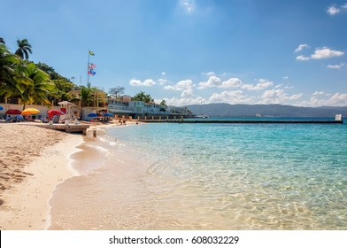 Jamaica beach near Montego Bay.
