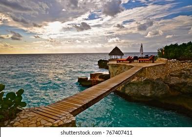 Jamaica bridge sunset