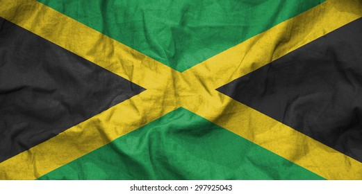 Jamaica flag. illustration