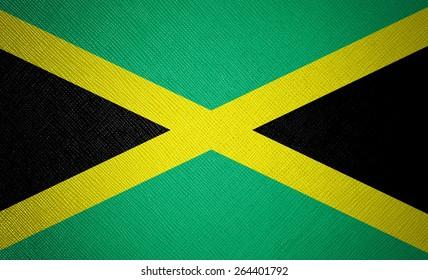 Jamaica flag leather texture
