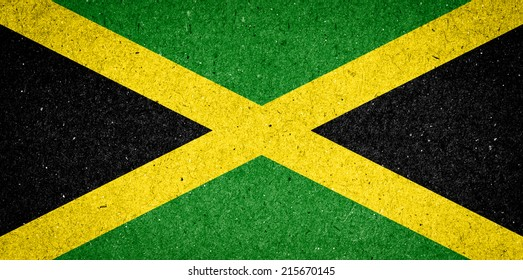 Jamaica flag on paper background